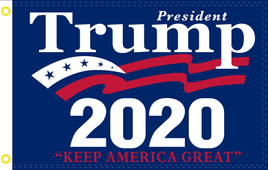 2'X3' 100D TRUMP 2020(KEEP AMERICA)FLAG