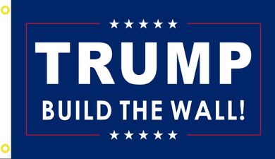 2'X3' 100D TRUMP BUILD THE WALL FLAG