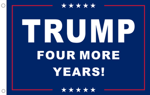 2'X3' 100D TRUMP FOUR MORE YEARS FLAG DBL SIDED