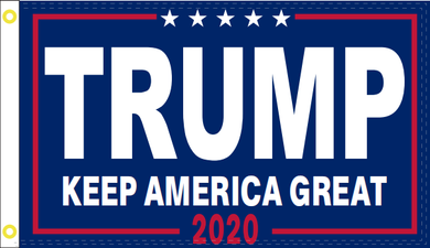 2'X3' 100D TRUMP KAG 2020 BLUE FLAG
