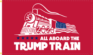 2'X3' 100D TRUMP TRAIN RED FLAG
