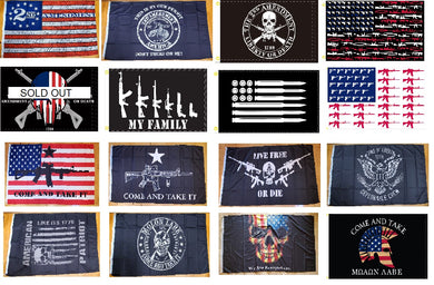 Assortment Of 2nd Amendment 3'X5 Flags Rough Tex® 100D