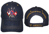 CSA 3 Flags Cap - Blue Jean