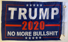 "Trump 2020 No More Bullshit 12""X18"" Boat Double Sided Flag With Grommets Rough Tex ® 68D Nylon XS"