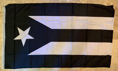 Puerto Rico In Black And White Flag Rough Tex ® 100D 3x5