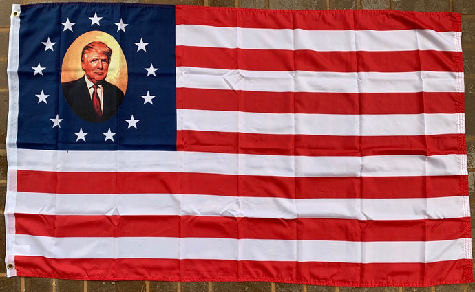 Donald Trump Portrait Flag 3'X5' Rough Tex® 100D