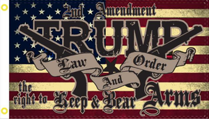 3'X5' 100D 2ND AMENDMENT TRUMP FLAG