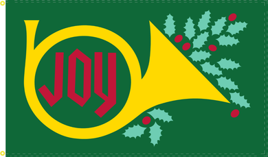 3'X5' 100D MERRY JOY GREEN FLAG