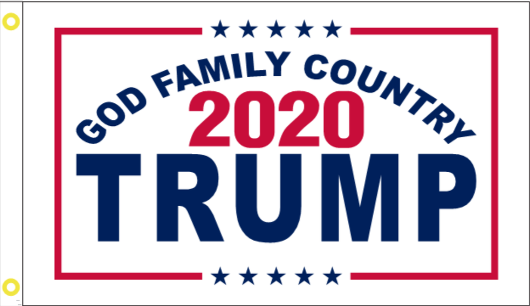 God Family Country 2020 Trump 3'X5' Double Sided Flag Rough Tex® 100D
