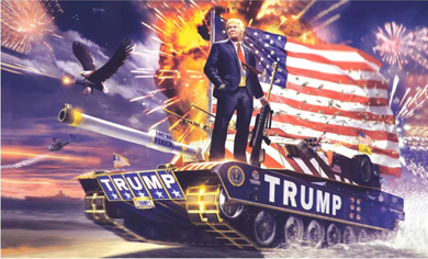 3'X5' 100D TRUMP TANK COMMANDER FLAG