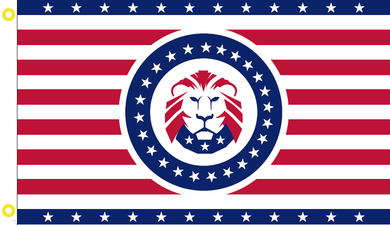 DONALD J. TRUMP LION HERALDRY PRESIDENT 45 FLAG 100D 3X5 ROUGH TEX ®