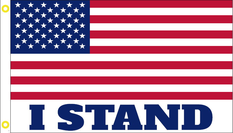 100D I STAND USA AMERICAN FLAG 3X5 ROUGH TEX ®