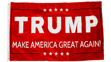 TRUMP MAKE AMERICAN GREAT AGAIN RED IV FLAG 100D 3X5 ROUGH TEX ®