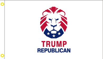 TRUMP REPUBLICAN LION FLAG 100D 3X5 ROUGH TEX ®