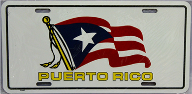 Puerto Rico Waving Flag License Plate