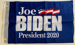 "*IN STOCK NOW* Joe Biden Democratic Party 2020 Presidential Blue Single Sided 12""X18"" Boat Flag Inch DuraLite® 68D Nylon"