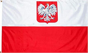 Old Poland 3x5ft Nylon 150D Flag