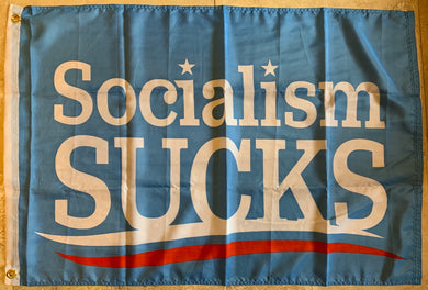 SOCIALISM SUCKS 2'X3' FLAG 100D ROUGH TEX ®