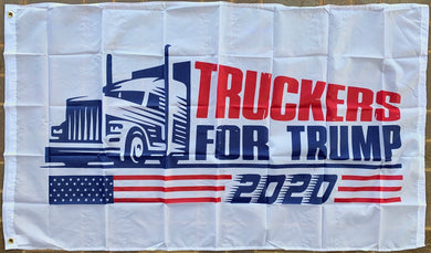 *TEMPORARLY OUT OF STOCK* Truckers For Trump 3'X5' Flag Rough Tex® 68D Nylon