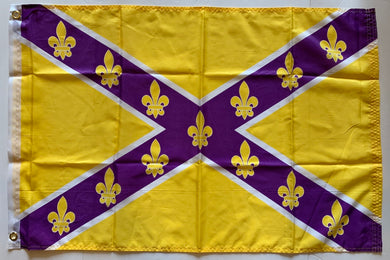 Purple & Gold Fleur De Lis 2'x3'- Rough Tex® 100D