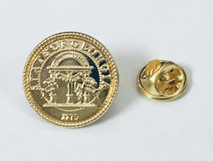 State Of Georgia- Cloisonne Hat & Lapel Pin