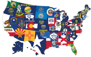 (3x5ft) Set of 50 State Flags United States all states 3x5