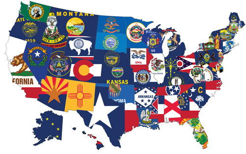 State Flag Pick Your Own State 12x18in Stick Flag
