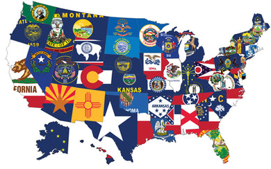 (12x18in) Set of 50 State Flags