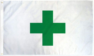 Marijuana Green Cross 3'X5' Flag Rough Tex® 100D