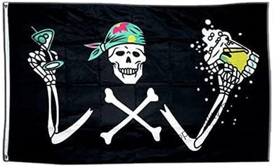 Pirate With Beer 3'X5' Flag Rough Tex®