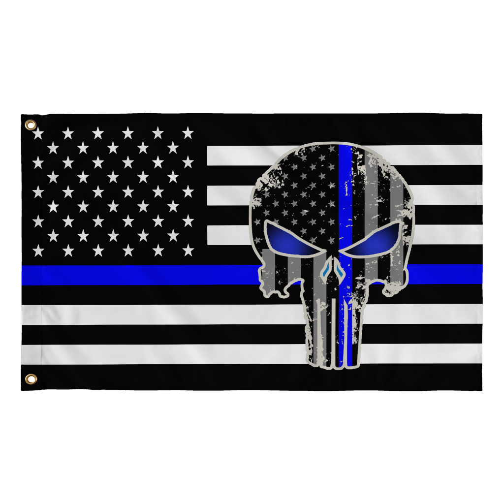 2'X3' 100D POLICE PUNISHER FLAG
