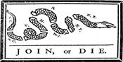 Join or Die Bumper Sticker - White
