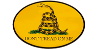 Gadsden Oval Bumper Sticker - Yellow