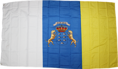 Canary Islands Spain Flag 3x5ft 100D