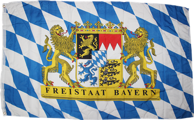 Bavaria Germany Lions and Crest Flag 3x5ft 100D