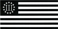 Betsy Ross III (Nyberg) Tactical Black Bumper Sticker