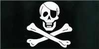 Jolly Roger with Eyepatch Bumper Sticker