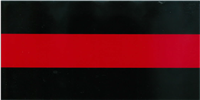 Fire Department Thin Red Line Bumper Sticker