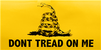 Gadsden Bumper Sticker - Black Grass