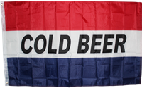 Cold Beer 3'x5' Polyester Single-Sided