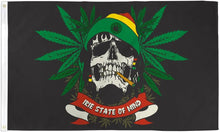Rasta Skull 3'X5' Flag Rough Tex® Polyester