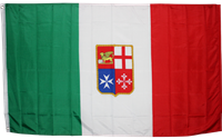 Italy with Crest (Civil) 3' x 5' Rough Tex 100D