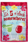 It's 5 O Clock Somewhere Garden Flag (Pink) 100D