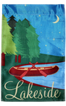 Lakeside Canoe Garden Flag