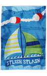 Splish Splash Sailboat Garden Flag 100D