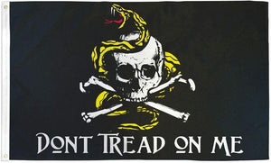Don't Tread On Me (Pirate) 3'X5' Flag Rough Tex® Polyester