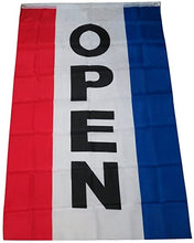 Open Banner Double Sided 3'X5' Flag Rough Tex® 100D