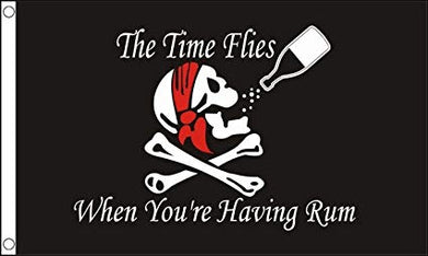 Time Flies Having Rum 3x5ft Nylon 150D Flag