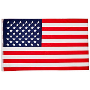 "All American U.S.A Banner 5' Foot 1"" Diameter Hard Wood Flag Pole Set With Wood Ball Top"