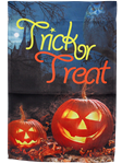 Trick or Treat Jack'O'Lanterns Garden Flag